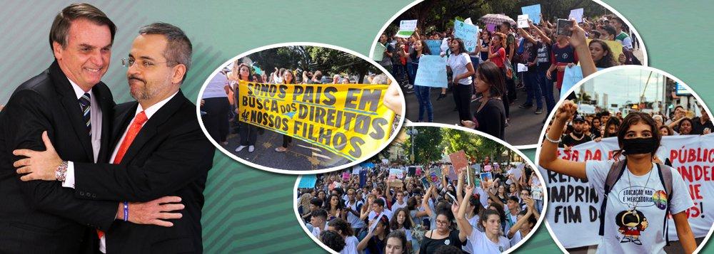Milhares de estudantes saem às ruas contra desmonte da educação e mídia ignora