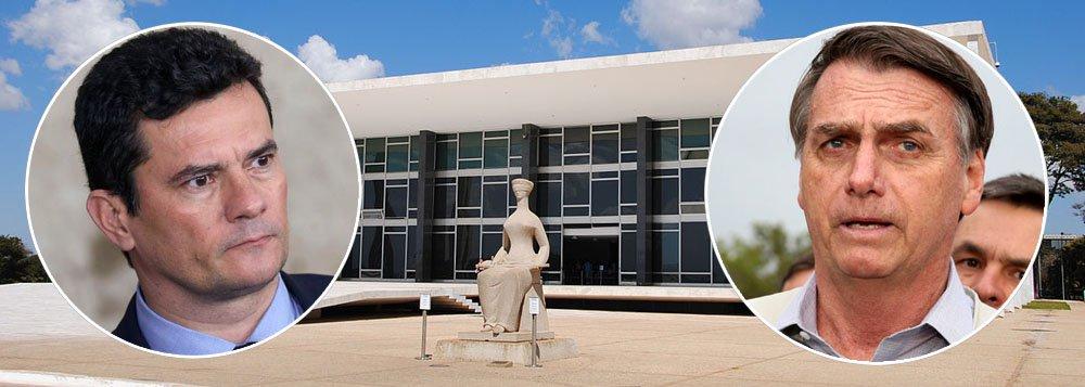 PT: Bolsonaro e Moro cometeram crime de corrupção no troca-troca por vaga no STF