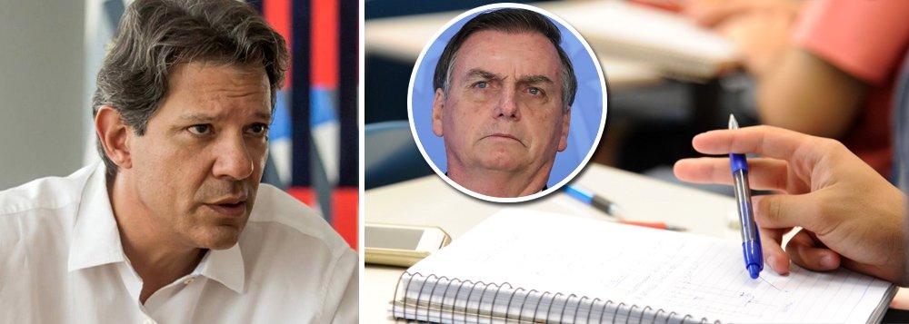 Haddad diz que Bolsonaro quer país à sua imagem: sem educação