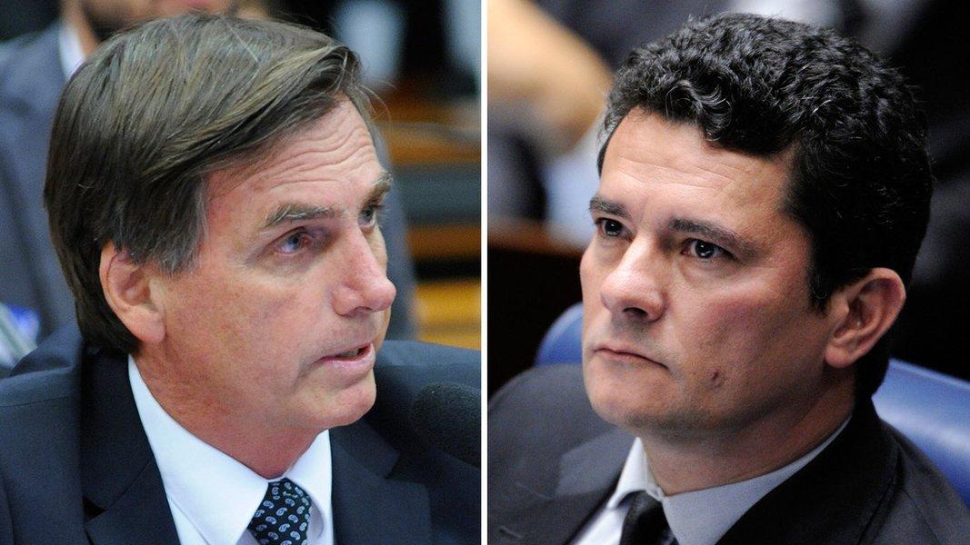 Bolsonaro está tão doido para se livrar de Moro quanto Moro para sair