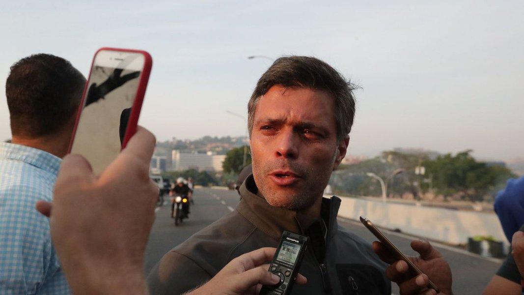 Leopoldo López, aliado de Guaidó, se refugia na embaixada do Chile em Caracas