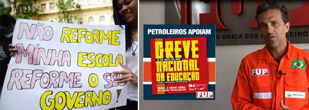 Petroleiros aderem à greve nacional da Educação