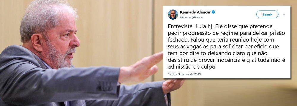 Lula pretende pedir progressão de regime para deixar prisão fechada