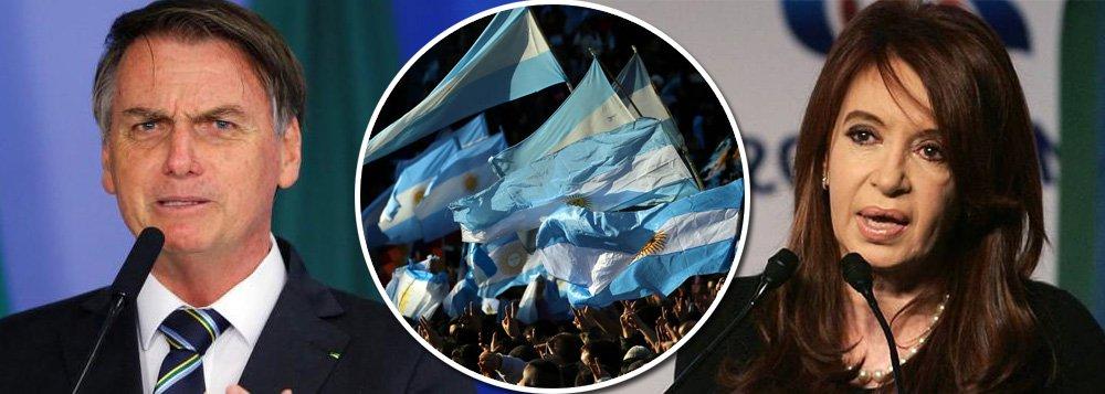 Bolsonaro volta a afrontar povo argentino e faz ameaça contra eleição de Cristina Kirchner