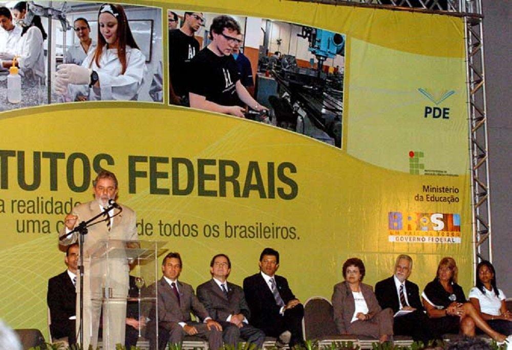 Em 2008, Lula havia criado 38 institutos federais de educação