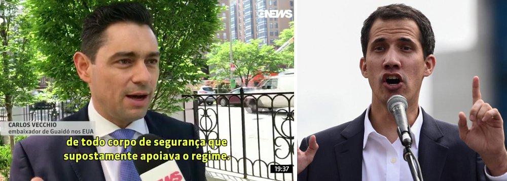 "Kiko Nogueira: GloboNews inventa ""embaixador de Guaidó"" para pressionar o Brasil"