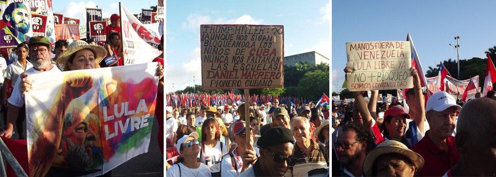Lula livre e solidariedade com Cuba e Venezuela marcam evento em Havana