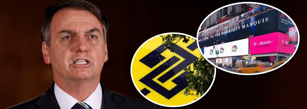 BB ajuda a pagar festa de Bolsonaro em NY boicotada por americanos