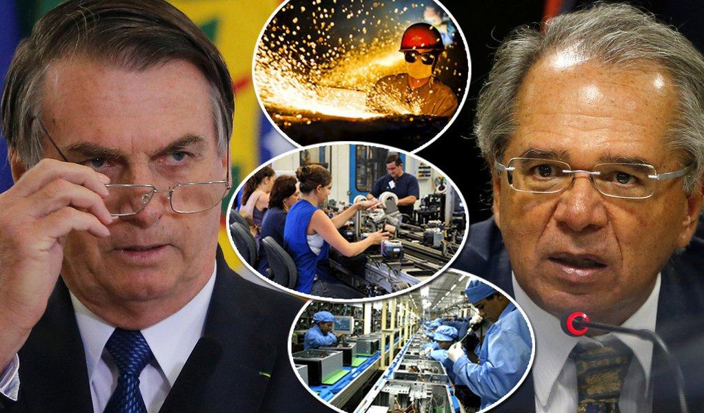 Com Bolsonaro, crescimento da indústria em abril foi o menor em 6 meses