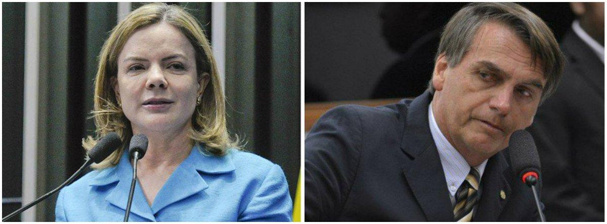 Gleisi: depois de Witzel fazer caçada humana, Bolsonaro facilita a vida de caçadores com as armas
