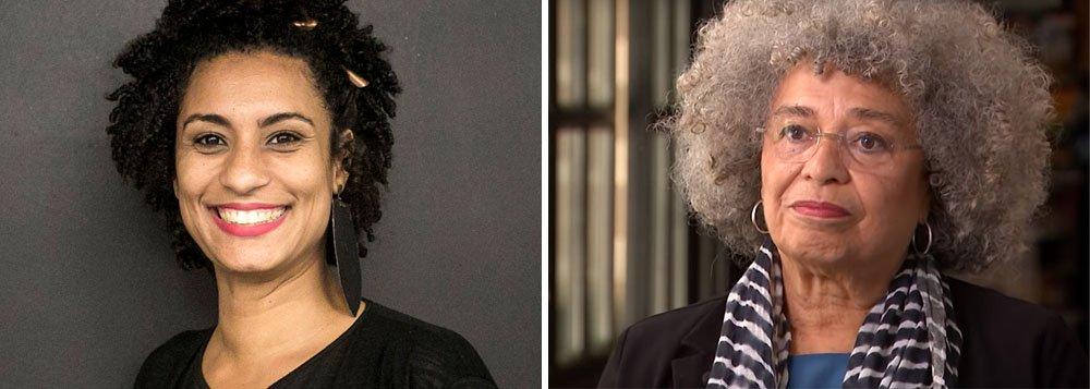 Angela Davis relembra assassinato de Marielle: isso me dói muito