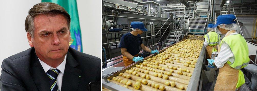 CNI: faturamento das indústrias desabou em março; governo Bolsonaro mergulha país na crise