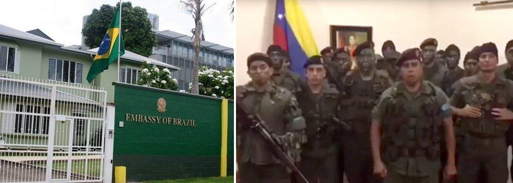 Governo diz que 25 militares venezuelanos pediram asilo na embaixada brasileira