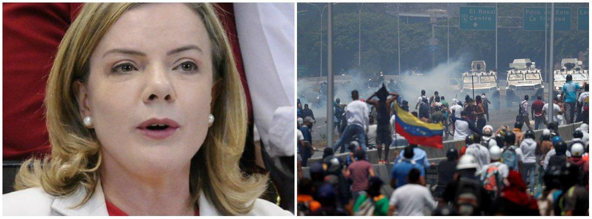 """PT critica """"oposição da direita golpista e antichavista"""" da Venezuela"""