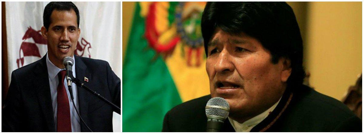 Morales: EUA e Guaidó buscam provocar violência e morte na Venezuela