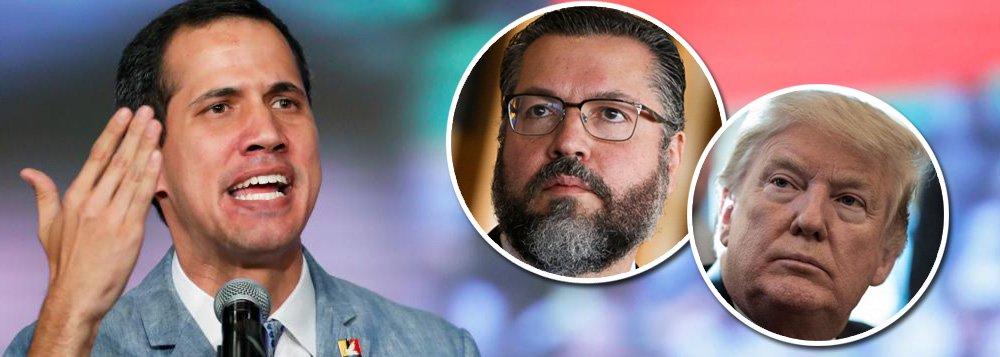 Guaidó quer envolver Brasil em tentativa de golpe militar na Venezuela