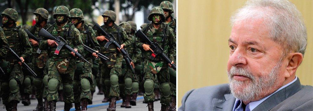 Colunista aponta que militares veem Lula como inimigo