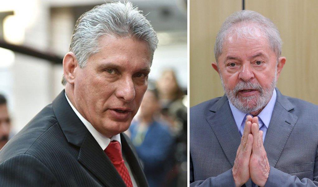 Díaz-Canel pede que no Primeiro de Maio Cuba levante a voz pela libertação de Lula