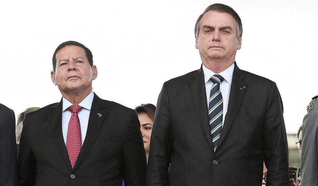 Vice Mourão tem mais agenda externa do que Bolsonaro