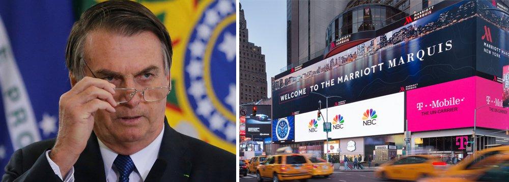 Hotel que receberá Bolsonaro em NY terá protestos diários