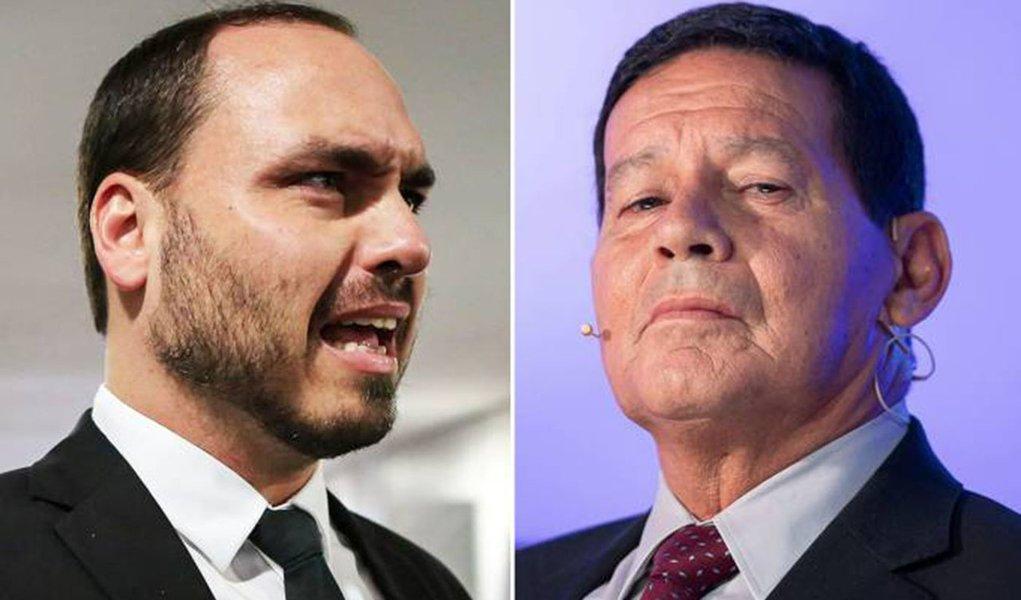 Mourão tenta colocar fim à crise com filho do presidente: 'vira a página'