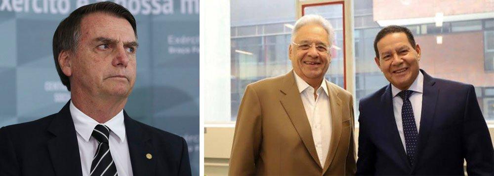 A foto de Mourão que irritou Bolsonaro
