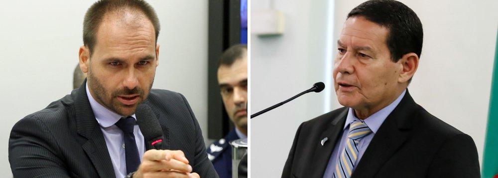 Eduardo Bolsonaro também ataca Mourão