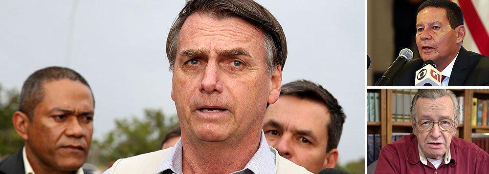 Enquadrado por generais, Bolsonaro manda Olavo de Carvalho se calar