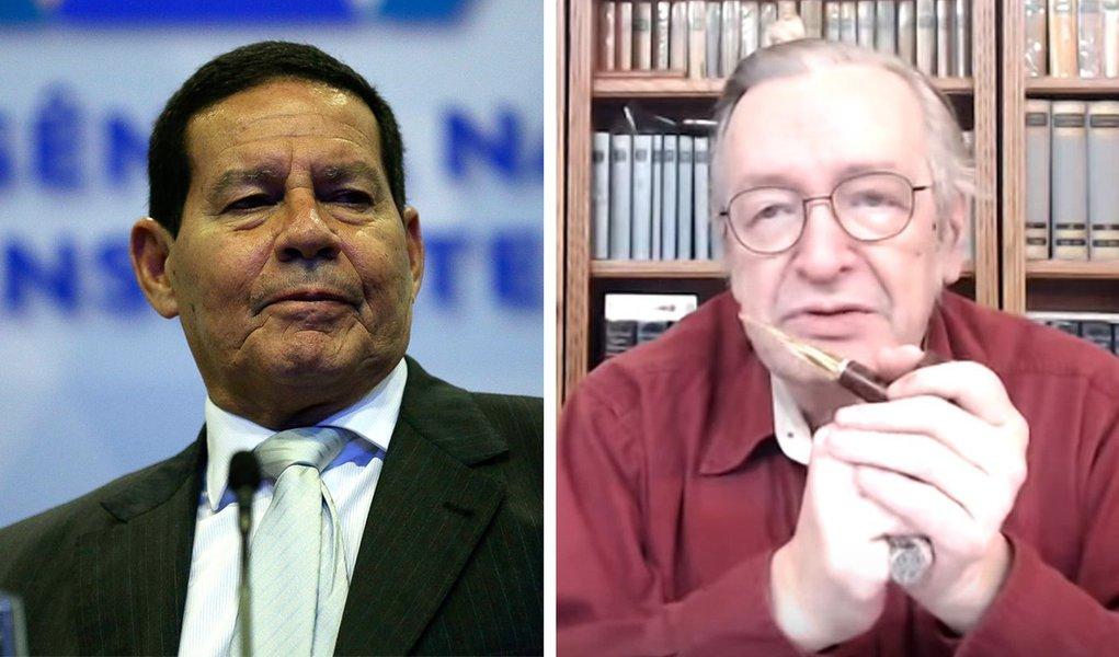 Guru de Bolsonaro, Olavo estimula impeachment do vice Mourão
