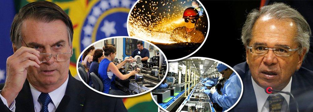 Economia em queda: indústria registra potencial abaixo da média histórica
