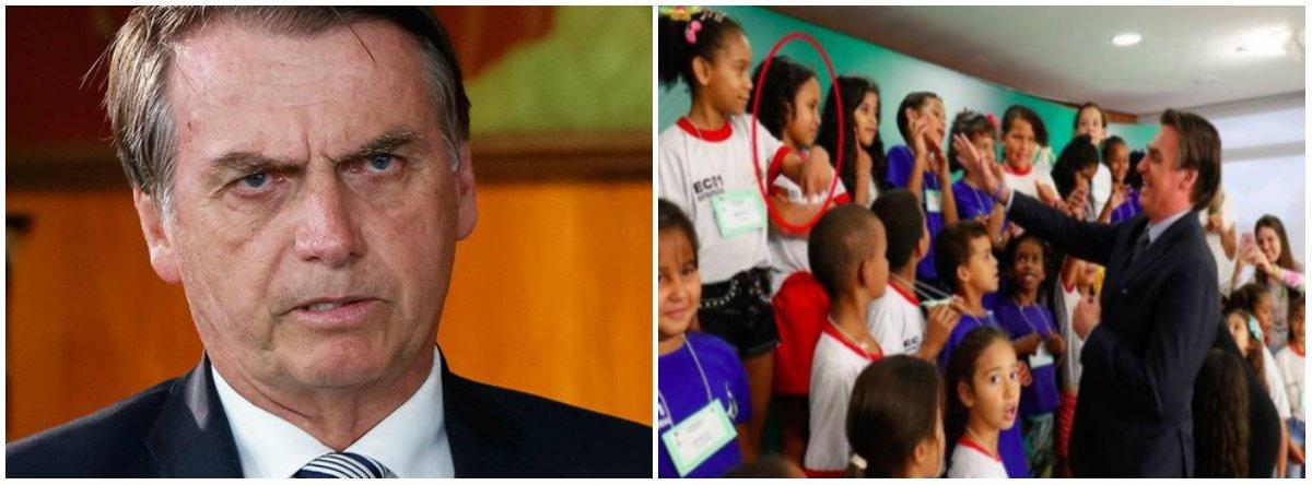 Estadão apaga matéria sobre menina que se recusou a cumprimentar Bolsonaro