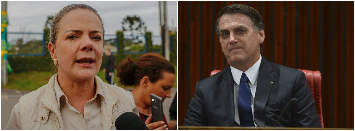 Gleisi encara Bolsonaro: chega de ameaças
