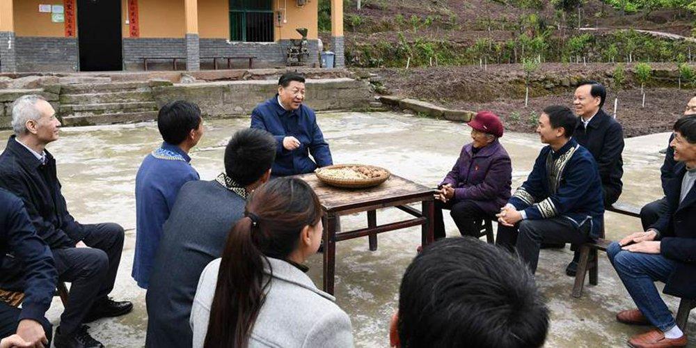 Presidente da China pede intensificação da luta contra pobreza