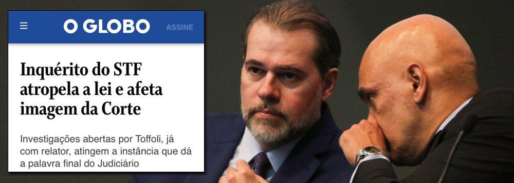 Globo ataca STF no caso da 'censura'
