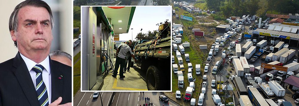 Bolsonaro trai caminhoneiros e Petrobrás aumenta o diesel entre 4,5% e 5,1%