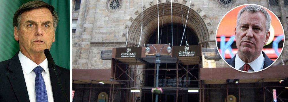 Cipriani Hall, em Wall Street, também impede homenagem a Bolsonaro