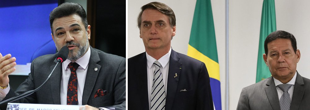 Marco Feliciano, vice-líder do governo, pede impeachment de Mourão