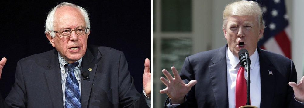Trump chama Sanders de louco e acha que ele é possível adversário em 2020
