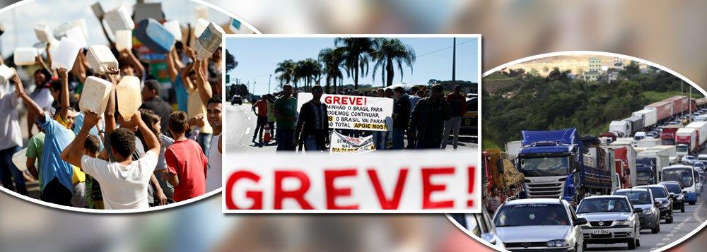 Caminhoneiros marcam greve para 21 de maio se diesel subir
