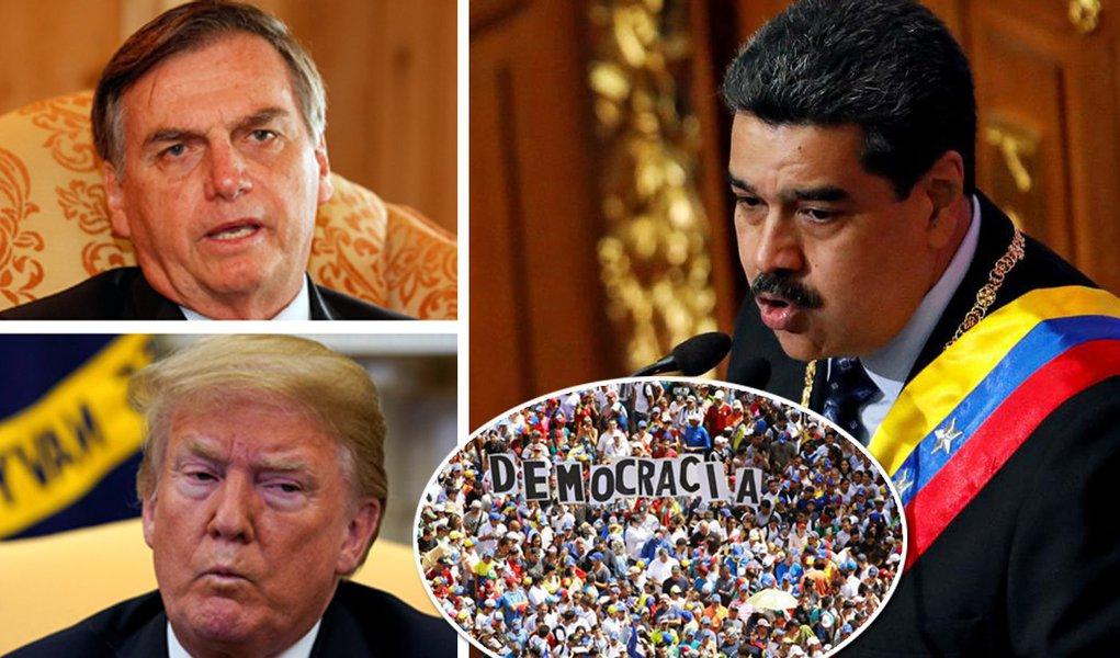 Jair Bolsonaro, Donald Trump e Nicolás Maduro