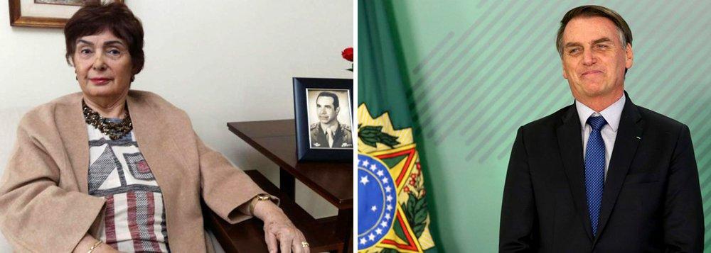 Viúva de Ustra elogia fala de Bolsonaro sobre músico fuzilado pelo Exército