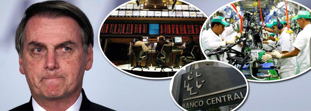 Economia afunda com Bolsonaro: PIB deve ser negativo no 1º tri
