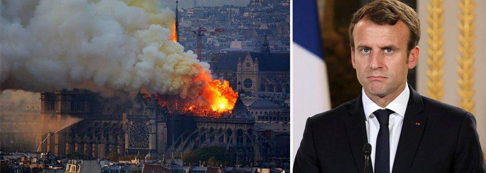 Macron promete reconstruir Notre-Dame, consumida pelas chamas