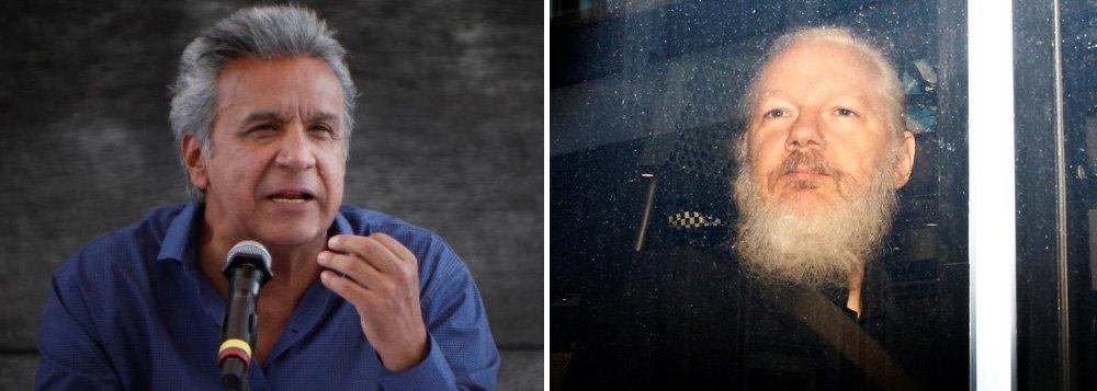 Presidente do Equador acusa Assange de tentar criar 'centro de espionagem' na embaixada