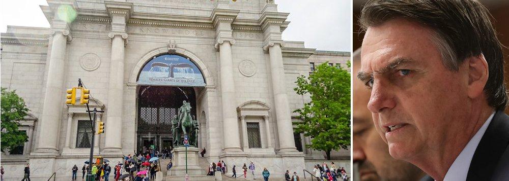 Museu de Nova York avalia cancelar evento em homenagem a Bolsonaro
