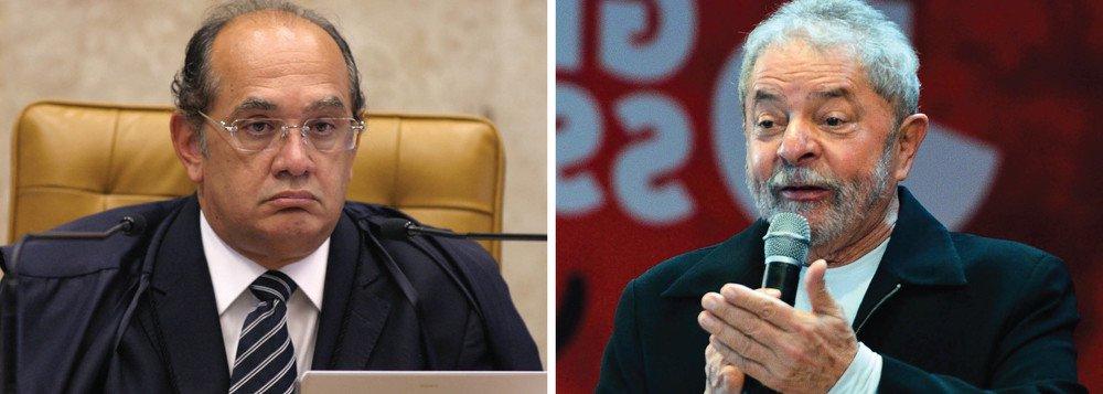 Habeas corpus de Lula irá a sessão presencial no STF a pedido de Gilmar Mendes