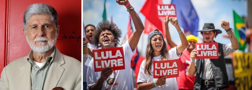 Amorim: sem Lula livre não há solução para nenhum grande problema do Brasil
