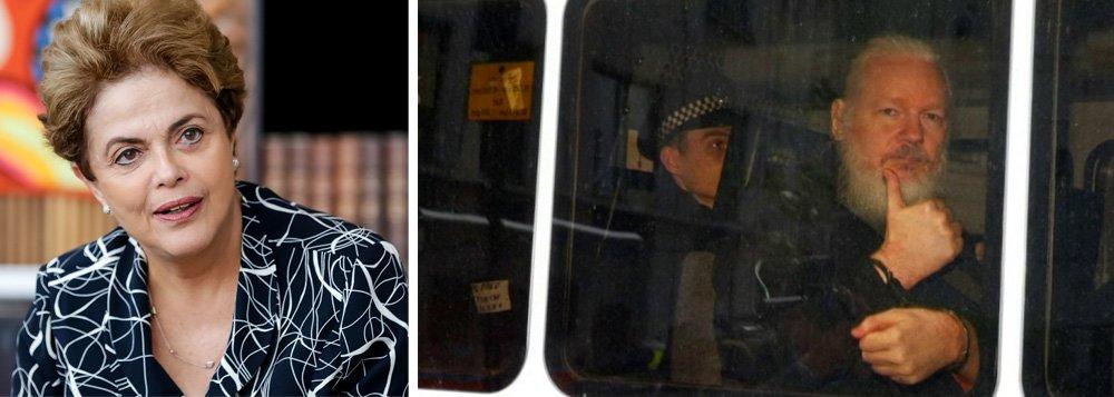 Dilma: Assange foi preso por revelar abusos dos Estados Unidos