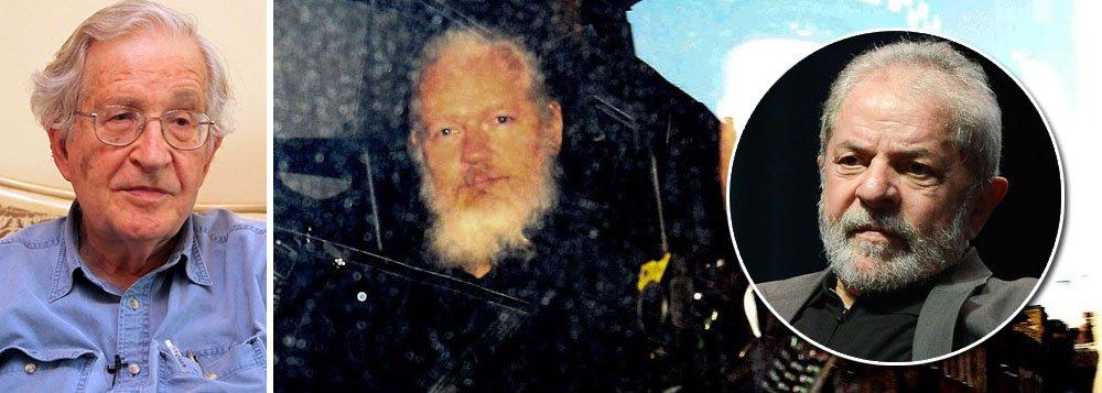 Noam Chomsky diz que prisão de Julian Assange está ligada à de Lula