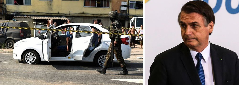 Bolsonaro: o Exército não matou ninguém. Houve um incidente